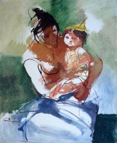 """""""Maternidad"""" por Juan Carlos Castagnino"""