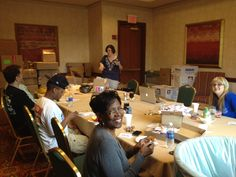 Staff gets everything everything ready for the NJ Delegation