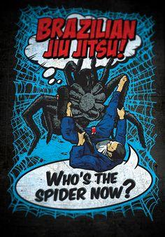 Brazilian Jiu-Jitsu: Who's the spider now? Ivan Feskov→Martial & sports drawings. #BJJ #spider #comic #art