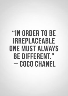 Be different be irreplaceable // post modern