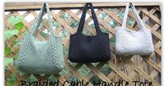 Also available as a free Ravelry download . An easy tote with braided cables that continue into the handles. A perfect first cable or feltin...