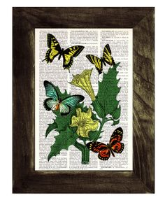 Butterfly collage Book print art  II Butterflies  and by PRRINT, $7.99