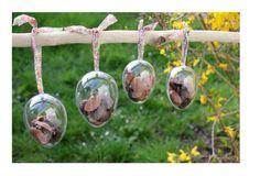 Faire son chocolat de pâques! Coques transparentes à garnir et cacher dans le jardin sur www.supadupamama.com