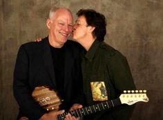 Paul McCartney and David Gilmour