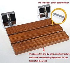 SUNDELY® Wall Mounted Teak Solid Wood Folding Bathroom: Amazon.co.uk: Electronics