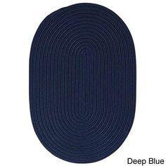Colonial Mills Solid-colored Polypropylene Indoor/Outdoor Reversible Braided Doormat (Low Profile Reversible Doormats