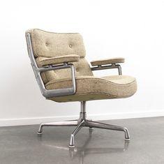 Lounge Tilt End Cap Brushed Eames Herman Miller Time Life Chair Large Size