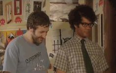 That has to be a blooper. LOVE IT. IT Crowd - gif