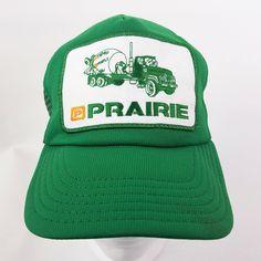 ece54c81a04 Prairie Material Vintage Snapback Trucker Hat Cap Patch Green Foam Mesh USA  Made by TraSheeWomen on
