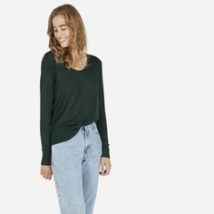 emerald wool sweater - responsibly made by everlane