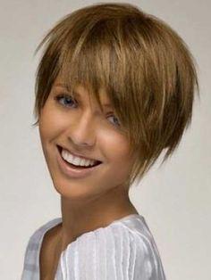 Cute Short Straight Cut for Thick Hair