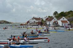 Each year a paddling race is arranged in Brekkestø, Lillesand, Southern Norway. The competition attracts paddlers from all over the region. Olympic winner Eirik Larsen Verås has participated in the race. Olympic Winners, Norway, Olympics, Attraction, Competition, Southern, Racing, Events, Summer Recipes