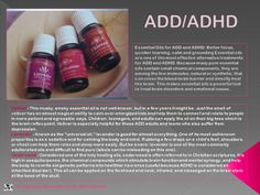 ADHD and Young living essential oils. Manage the symptoms without crummy and harmful side effects of stimulants! Essential Oils For Add, Essential Oil Uses, Doterra Essential Oils, Young Living Essential Oils, Oils For Sleep, Young Living Oils, Young Living Adhd, Living Essentials, Yoga
