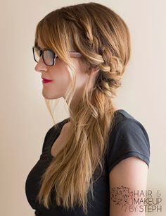 Not every morning can be spent drying and curling your hair. Check out these 10 easy lazy day hairstyles for hair that works even when you don't want to. Pretty Braided Hairstyles, Lazy Day Hairstyles, Party Hairstyles, Cute Hairstyles, Braided Ponytail, Teenage Hairstyles, Hairstyles 2016, Wedding Hairstyles, Mowhawk Braid