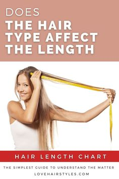 Does the Hair Type Affect the Length? ❤ #lovehairstyles #hair #hairstyles #haircuts Waist Length Hair, Hair Length Chart, Shoulder Length, Fancy Hairstyles, Straight Hairstyles, Hairstyles Haircuts, Medium Long Hair, Long Wavy Hair, Curly Hair Styles