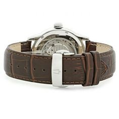 BULOVA 21 JEWEL MENS BROWN DIAL OPEN HEART LEATHER STRAP AUTOMATIC WATCH 96A120 caseback Bulova, Automatic Watch, 21st, Jewels, Watches, Heart, Brown, Leather, Men