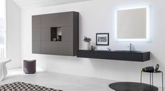 The contemporary Vero furniture collection has geometry and simplicity at its heart. The meticulous design is given versatility by the wide range of unit sizes and colours available, allowing you to match it perfectly to your bathroom scheme. Contemporary Style Bathrooms, Bathroom Collections, Bathroom Furniture, Furniture Collection, Geometry, Range, Colours, Bath Room, Brochures