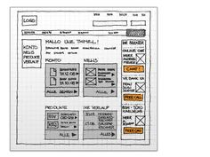 Website wireframe for a home loan bank