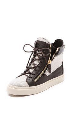 REALLY need these. Giuseppe Zanotti Double Zipper Sneakers.