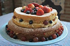 ana sinhana: Na cozinha: um bolo com frutinhas e amor
