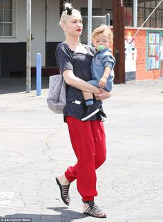Gwen Stefani and her sons don fashionable attire as they go to Church #dailymail