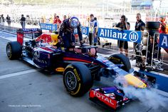 F1 Grand Prix of Russia - Qualifying SOCHI, RUSSIA – OCTOBER 11: Daniel Ricciardo of Australia and Infiniti Red Bull Racing gets out of his car in Parc Ferme as his team cool the car after qualifying ahead of the Russian Formula One Grand Prix at Sochi Autodrom on October 11, 2014 in Sochi, Russia.