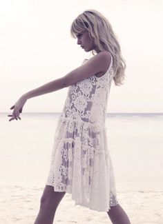 Boho | bohemian | white summer dress