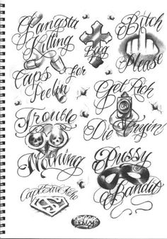 Chicano Tattoos Lettering, Tattoo Lettering Styles, Chicano Drawings, Graffiti Lettering Fonts, Doodle Tattoo, 1 Tattoo, Tattoo Script, Tattoo Fonts, Lion Tattoo Sleeves
