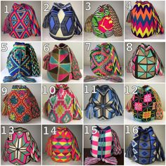 ALL AVAILABLE Authentic Mochilas Wayuu shoulder crossbody colombiana bags    eBay! Mexican Designs, Tapestry Crochet, Rucksack Backpack, Crochet Home, Black Trim, Hippie Chic, Large Bags, Shoulder, Pattern