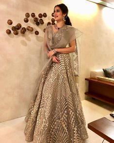 Feeling glittery tonight in a gorgeous @falgunishanepeacockindia creation . Thank you @falgunipeacock for customising exactly what I wanted😘 .@vedhikaghotge