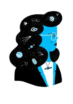 ruby-taylor: This is Vera Rubin. She's a babe and she discovered dark matter. I've made this as a B2 screen print. Why not treat yourself? Email me for details.