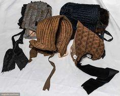 4 Ladies' Winter Hoods, 1840-1860s, Augusta Auctions, May 12, 2015 - Sturbridge, MA, Lot 95