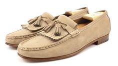 Ferragamo Mens Shoes Size 9.5 Nubuck Tassel Loafers 2714 Brown