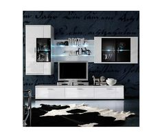 ✨ 💕 ✨ 💕 ✨ 💕 TV wall unit in White high gloss backlight Now furniture order. Living Room White, White Rooms, Wall Tv Stand, Room Set, Living Room Furniture, Living Rooms, Cleveland, Home Appliances, Interior Design