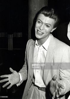 David Bowie on the opening night of The Elephant Man, 1980.