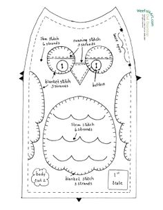 Our goal is to keep old friends, ex-classmates, neighbors and colleagues in touch. Blanket Stitch, Stitch 2, Owl Doorstop, Owl Sewing Patterns, Fun Crafts, Arts And Crafts, Owl Theme Classroom, Draft Stopper, Textiles