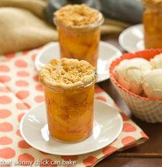 Peach Crisps in Jars