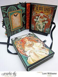 Lori Williams Designing for Graphic 45 Steampunk Debutante Re Release Box Card photo 1