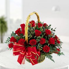Browse here send flowers to Mumbai from Clickroses which is leading local florist. Place order for online flower delivery in Mumbai. Roses Valentine, Valentine Day Gifts, Rose Basket, Flower Basket, Online Florist, Local Florist, Bunch Of Red Roses, Send Flowers Online, Congratulations Gift