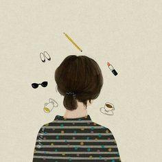 grace is that u? [by ottokim] Illustration Inspiration, Illustration Art, Tmblr Girl, Drawn Art, Anime Art Girl, Aesthetic Art, Art Inspo, Illustrators, Doodle