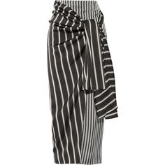 Joseph Fran striped satin wrap skirt ($640) ❤ liked on Polyvore featuring skirts, bottoms, joseph, wrap skirt, striped wrap skirt, pin striped skirt, satin skirt and striped skirt