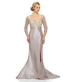 Terani Couture Beaded Lace OfftheShoulder Mermaid Gown #Dillards