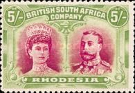 British South Africa Company, 11.11.1910, King George V., No.112a, 5P yellowish green/reddish brown. Stamped 219 USD. Unused 878 USD.