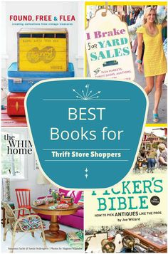 10 of the BEST Books For Thrift Store Shoppers, including ideas on how to find great deals, thrift store decorating and best practices for reselling.