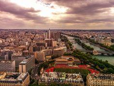 the breathtaking view of Paris from the Eiffel tower #Paris #eiffeltower #France #toureiffel