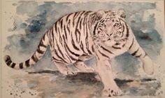 """""""..Gli occhi della tigre sono come i miei, ma lei ha attraversato un mare profondo e agitato..."""" """".Tiger eyes are like mine, but she went through a deep sea and agitated ..."""" #watercolor #lastSamurai #art #arte #KenWatanabe #HiroyukiSanada #TomCruise"""
