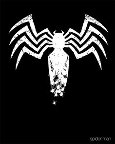 This poster is really creepy, and designed just as good. I like how the big spider fades out into the little spiders  Black Spider-Man Poster