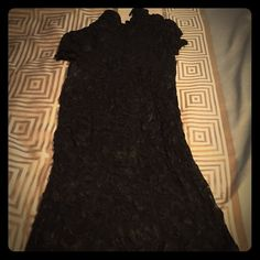 Black lace dress Sexy black lace dress. No snags or rips. Great condition Dresses Mini