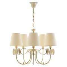 Mobexpert lustra 5xe14/60w alb Motto Chandelier, Ceiling Lights, Lighting, Metal, Home Decor, Shop, Cluster Pendant Light, Candelabra, Decoration Home