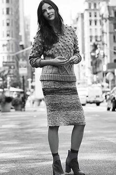 Sweaterknit Pencil Skirt